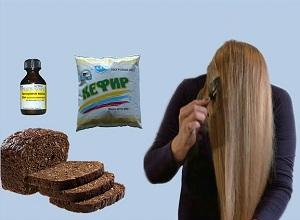Как приготовить маску с черным хлебом, кефиром и маслом для волос
