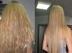 Что говорят в отзывах женщины о кератиновом выпрямлении волос