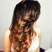 Омбре на темные волосы с неожиданными оттенками