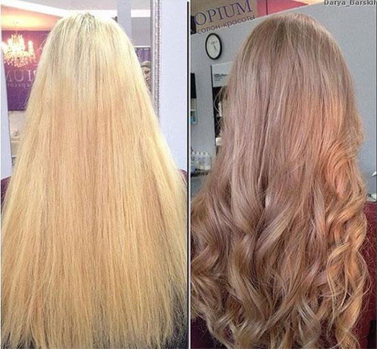 оттеночный шампунь теплый блонд