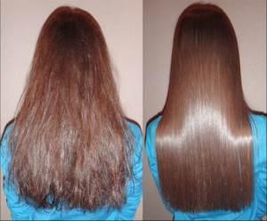 Как выглядят волосы после домашнего ламинорования желатином