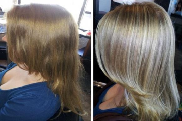 Колорирование светлых волос