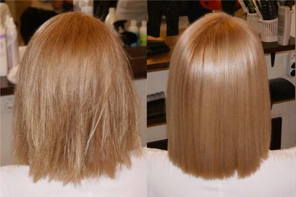 Ламинирование до и после