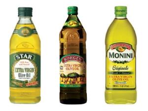 Оливковое масло разных производителей