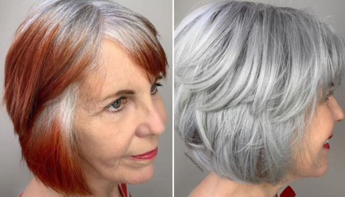 седина и тонирование седых волос