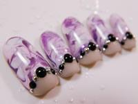 фиолетовый нейл-арт