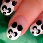Пошаговый дизайн ногтей Панда