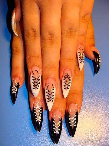 Корсет дизайн ногтей