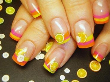 фимо на ногтях