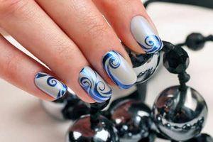 простые узоры на ногтях