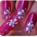 Дизайн ногтей цветок Гибускус