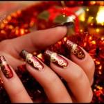 ногти на новый год