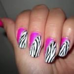 Рисунки лаком на ногтях: Дикая зебра