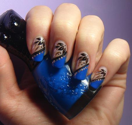 простой дизайн ногтей