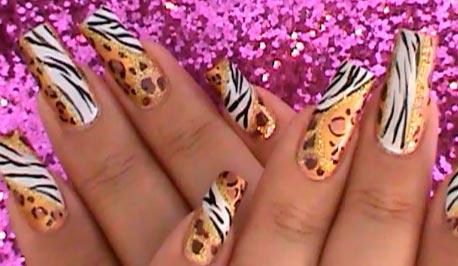 ногти леопард