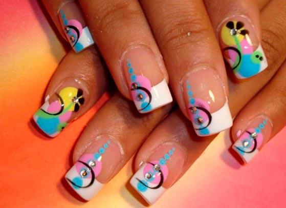 Рисунки на короткие квадратные ногти