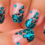Леопардовые ногти металлик
