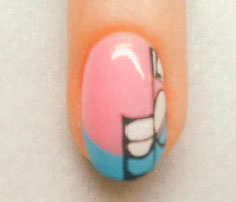 рисунки на ногтях с помощью лака