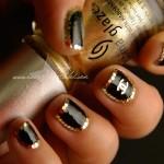 Гламурные ногти с золотом
