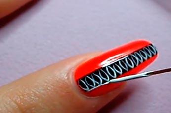 красный дизайн ногтей