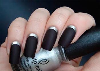 Темный Маникюр Дизайн Ногтей