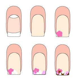 дизайн ногтей с цветами