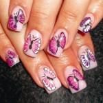 Пошаговый дизайн ногтей Бабочка