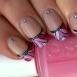 Розовый френч Красочная мозаика