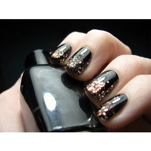 ногти золото
