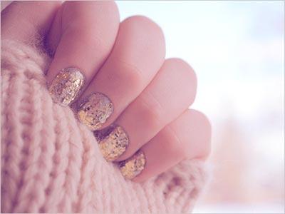 Дизайн ногтей с пылью