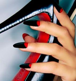 черно-красные ногти