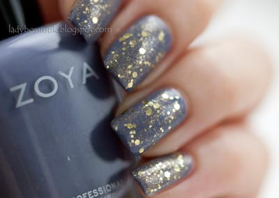 ногти золотые