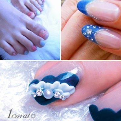 жемчуг на ногтях