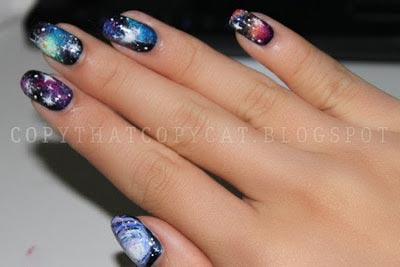 ногти космос