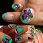 Ногти с бабочками: 50 идей