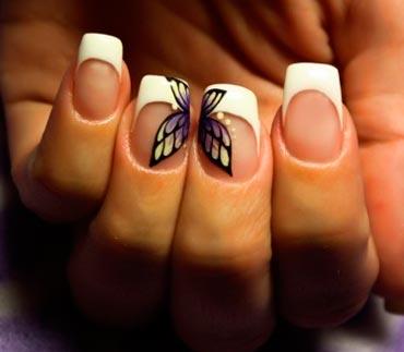наращивание ногтей френч