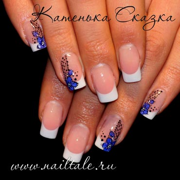 Френч ногти белый френч с рисунком квадратные френч самые красивые