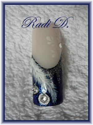 рисунки на ногтях на Рождество