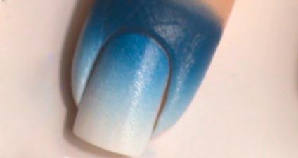 зимний узор на ногтях