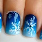 3 идеи зимних рисунков на ногтях