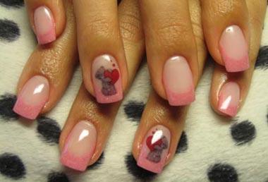мишки тедди на ногтях