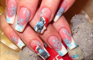 Дизайн ногте с мишками 21