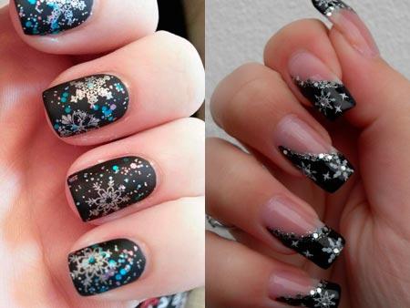 зимние ногти