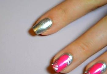 дизайн ногтей розовым лаком