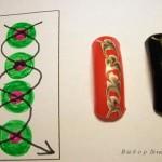 Схемы рисунков иголкой на ногтях