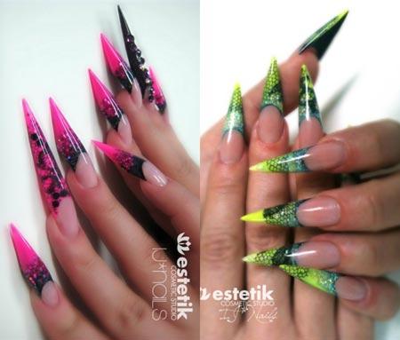 кружевные ногти