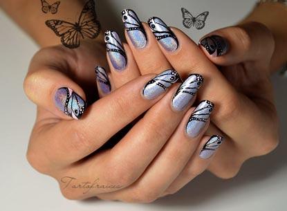 дизайн ногтей крыло бабочки