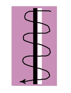 схема рисунка на ногтях иголкой