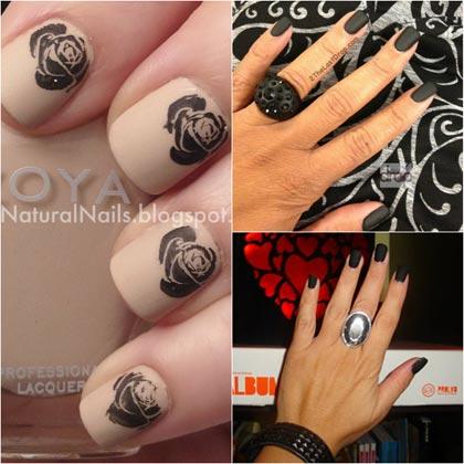 черный матовый дизайн ногтей