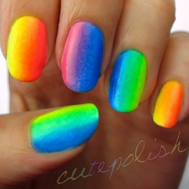 Ногти радуга дизайн
